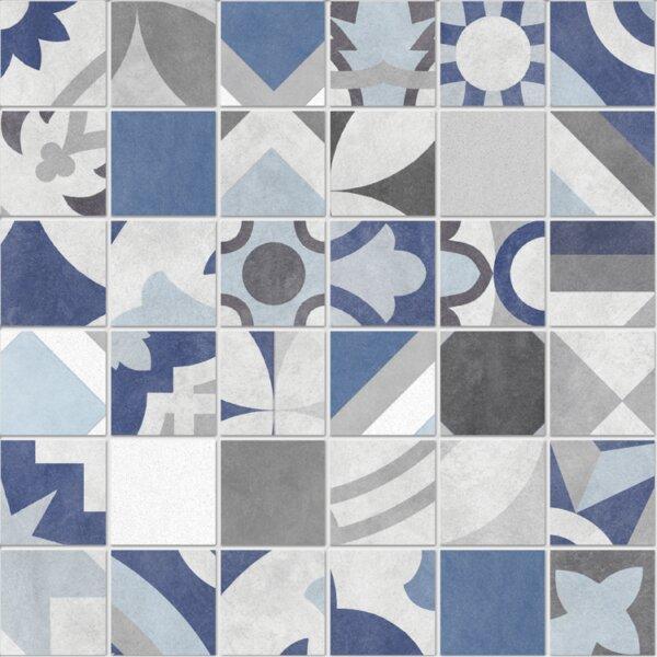 Bouquet 12 x 12 Porcelain Mosaic Tile in Caribe by QDI Surfaces