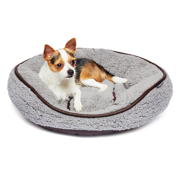 Bukowski Sherpa Round Cuddler Pet Bed by Tucker Murphy Pet