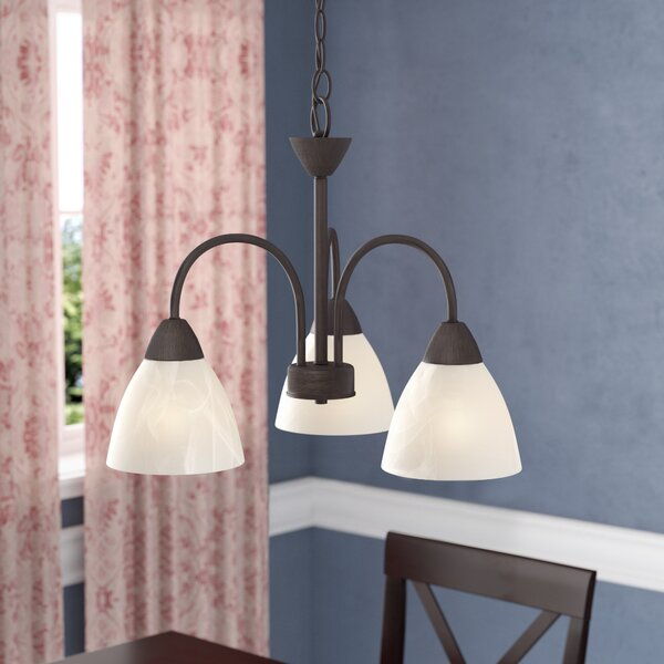 Sheldrake 3-Light Shaded Classic / Traditional Chandelier By Andover Mills
