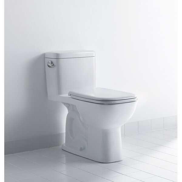 D-Code 1.28 GPF Elongated Floor Mounted Two-Piece Toilet (Seat Not Included) by Duravit