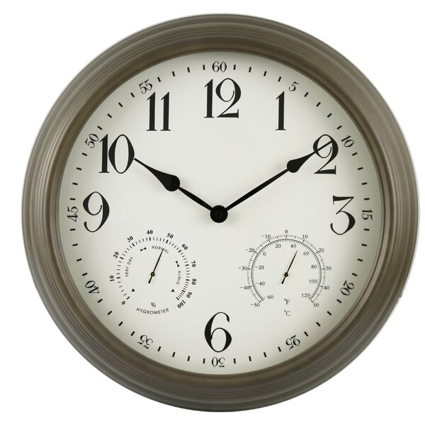 Willington Weather Monitoring 18 Wall Clock by Fleur De Lis Living