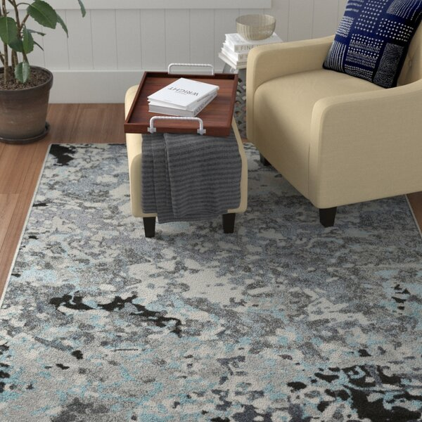Holmstrom Abstract Gray Area Rug by Winston Porter