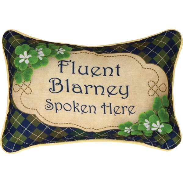Irish Luck Word Lumbar Pillow by Manual Woodworkers & Weavers