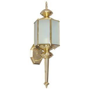 Compare prices Malakai 1-Light Outdoor Wall Lantern By Astoria Grand
