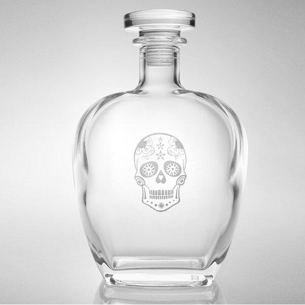 Sugar Skull Whiskey Decanter 23 Oz. by Rolf Glass