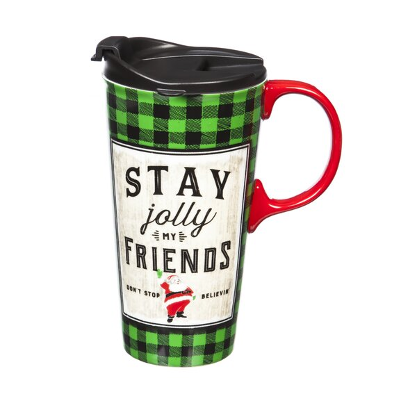 Noelle Stay Jolly Friends Travel Mug by The Holiday Aisle