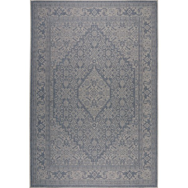 Persian Blue/Beige Indoor/Outdoor Area Rug by Nicole Miller