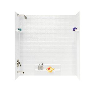 Read Reviews Veritek 60 x 60 x 32 Five Panel Shower Wall By Swan