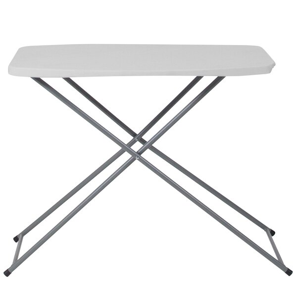 29''L Height Adjustable Granite Rectangular Folding Table by Flash Furniture