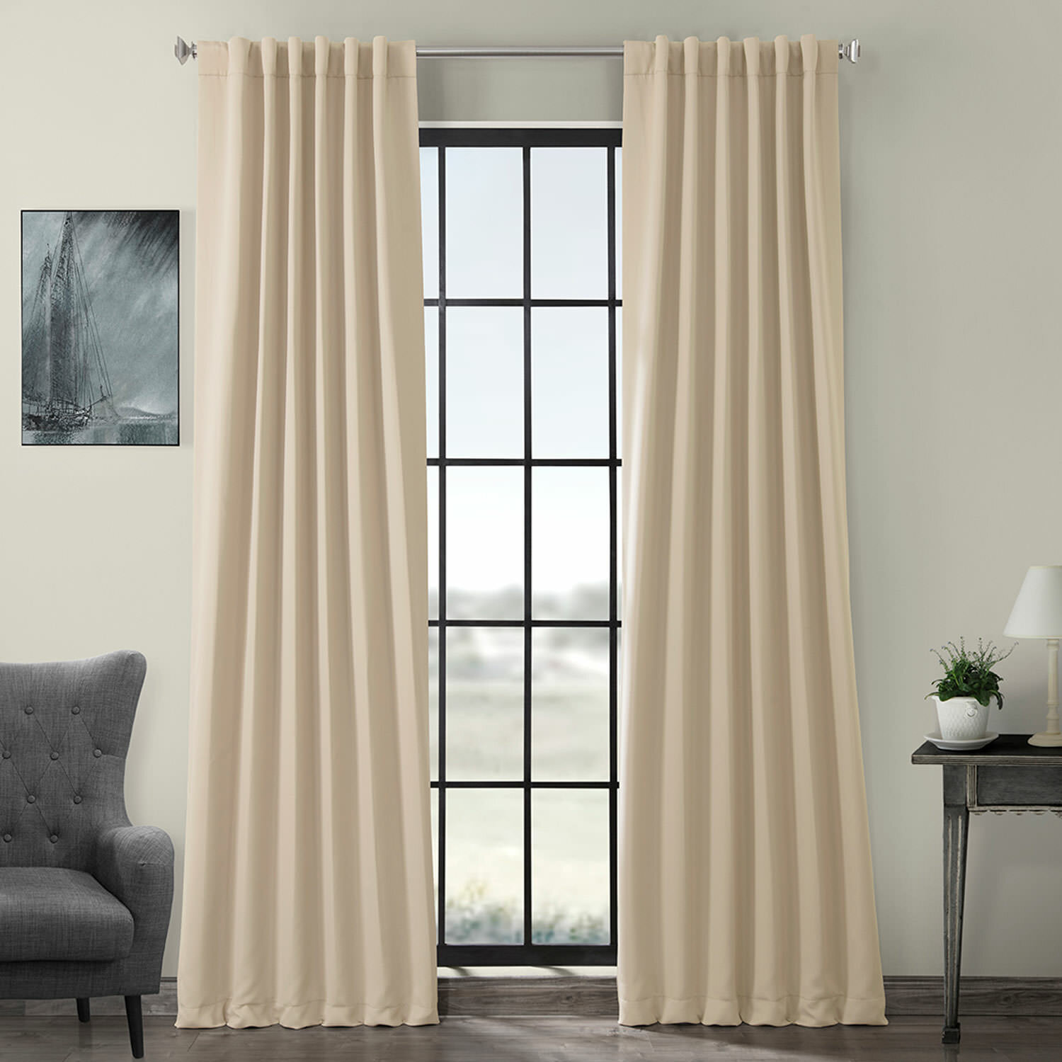 Thermal Insulated Tailored Curtains Privacy Drapes for Nursery