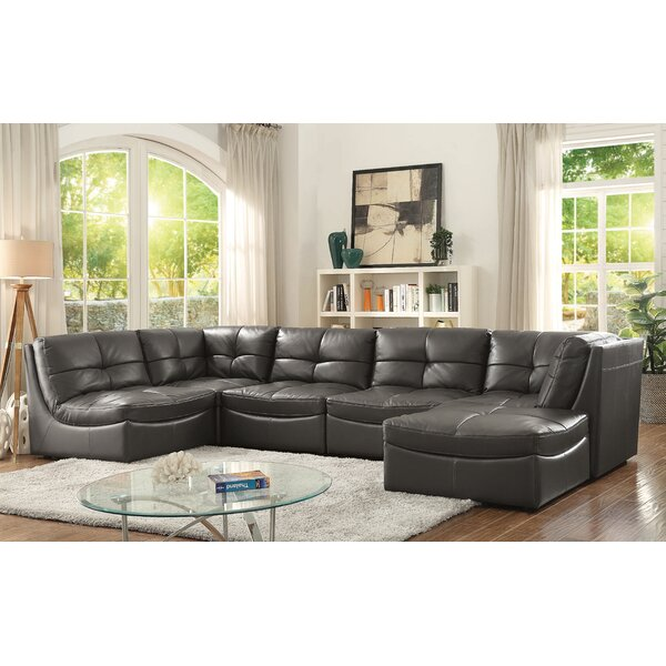 Ostby Symmetrical Modular Sectional With Ottoman By Ebern Designs