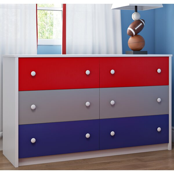 Nola 6 Drawer Double Dresser by Zoomie Kids