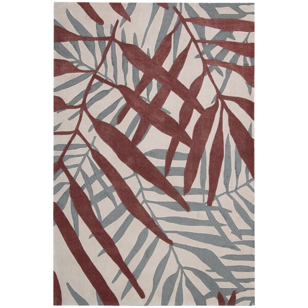 Clinton Hand-Tufted Red/Gray Area Rug by Bay Isle Home