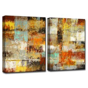 'Revelation' by Norman Wyatt Jr. 2 Piece Painting Print on Wrapped Canvas Set by Ready2hangart