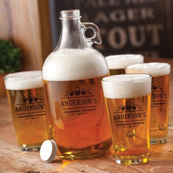 3 Beers Personalized 5 Piece Beverage Serving Set by JDS Personalized Gifts
