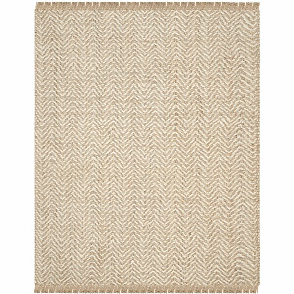 Dombrowski Hand-Woven Bleach/Natural Area Rug by Charlton Home