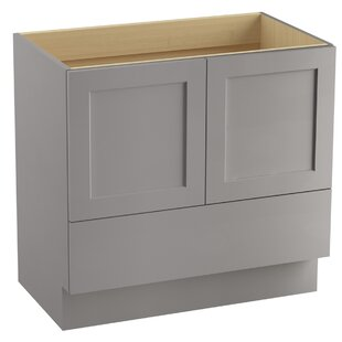 Buying Poplin™ 36 Vanity Base Only with Toe Kick, 2 Doors and 1 Drawer ByKohler