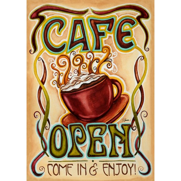 Cafe Open 2-Sided Garden Flag by Toland Home Garden