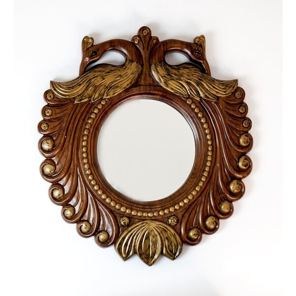 Peacock Accent Mirror by The Silver Teak