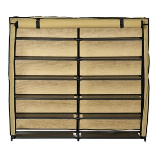 Great Price 24 Pair Shoe Rack By Rebrilliant