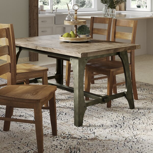 Casimir Extendable Solid Wood Dining Table by Gracie Oaks
