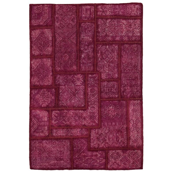 Annabelle Kilim Hand-Woven Berry Patchwork Area Rug by Kosas Home