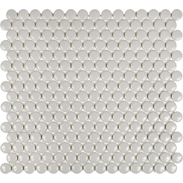 Sail 0.75 x 0.75 Ceramic/Porcelain Mosaic Tile in Porpoise by Parvatile