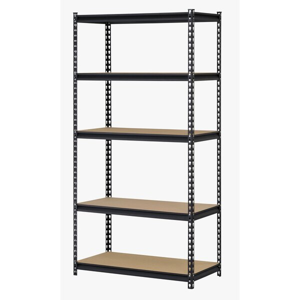 72 H Steel Five Shelf Heavy Duty Shelving Unit by Edsal-Sandusky