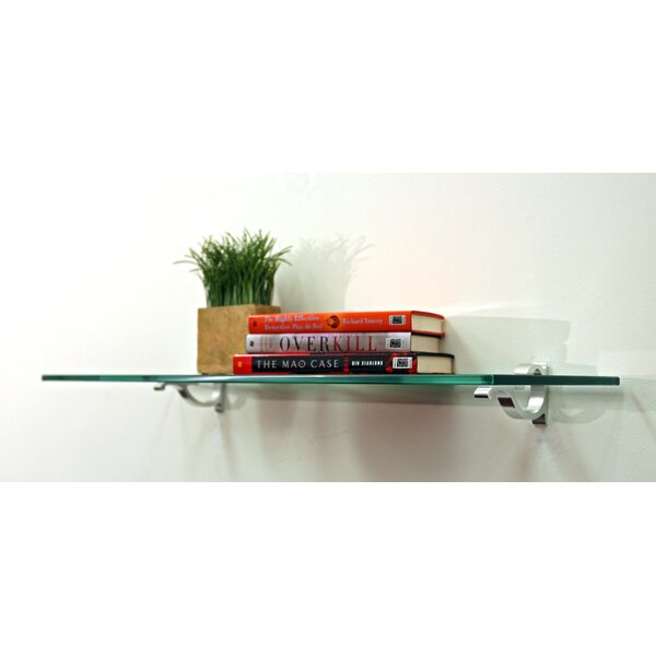 Floating Glass Bathroom Shelf by Spancraft Glass