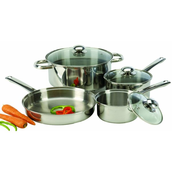 7-Piece Stainless Steel Cookware Set by Cook Pro