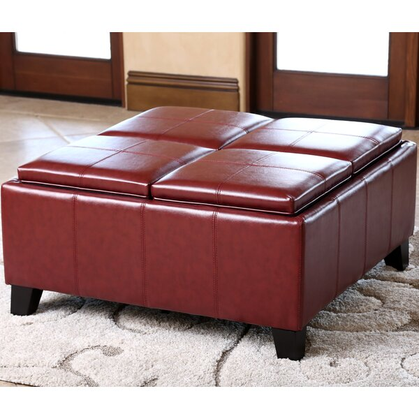Leatherwood Storage Ottoman by Darby Home Co