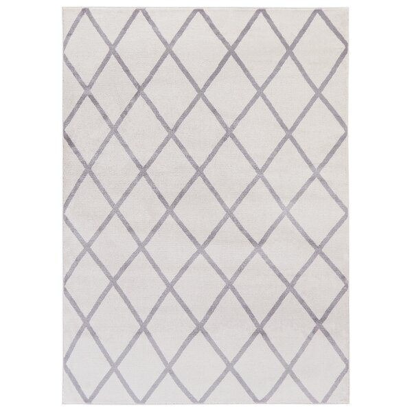 Kester Moroccan Trellis Ivory/Gray Area Rug by Wrought Studio
