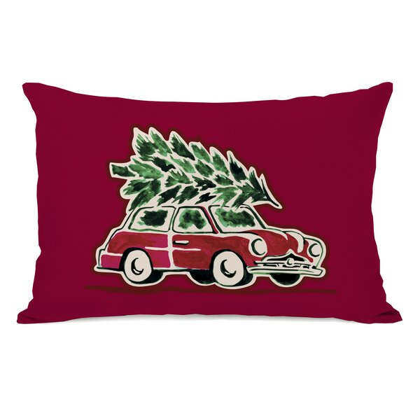 Christmas Tree Buggie Lumbar Pillow by The Holiday Aisle