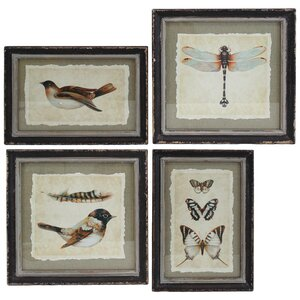 4 Piece Framed Graphic Art Set by Selectives
