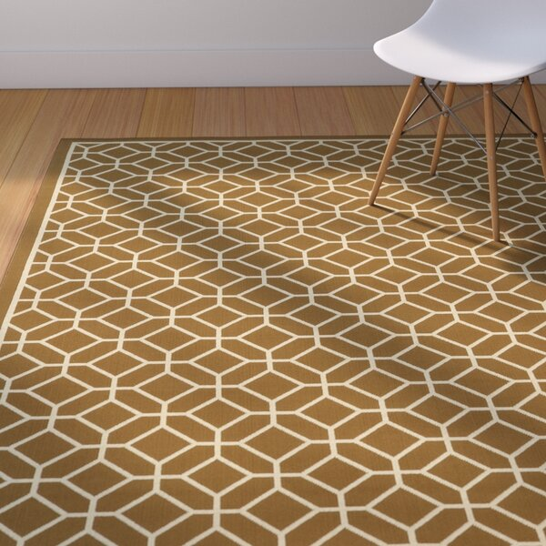 Liza Brown/Ivory Indoor/Outdoor Area Rug by Langley Street