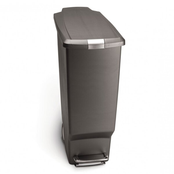 10.6 Gallon Slim Step Trash Can, Plastic by simplehuman