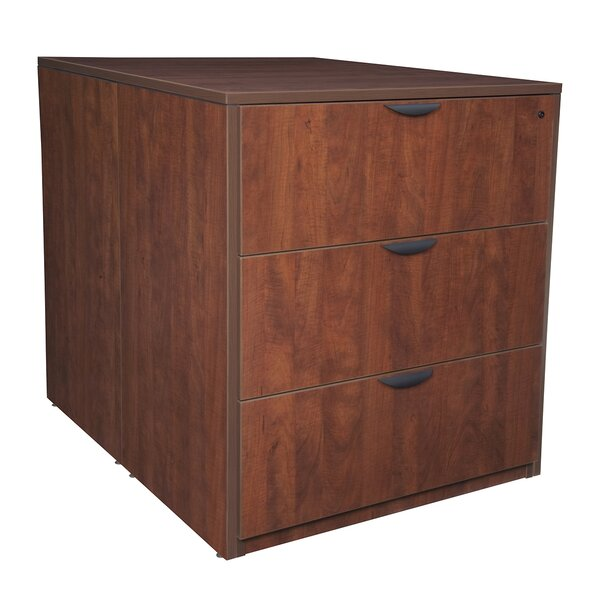 Linh Stand Up Back to Back Desk 3-Drawer Lateral Filing Cabinet by Latitude Run