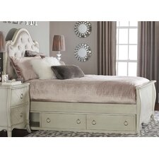 Brayan Wood Panel Bed with Storage Unit by Harriet Bee