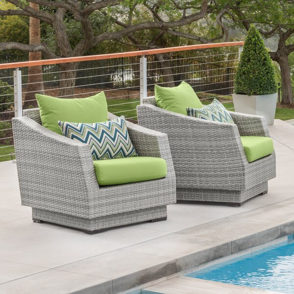 Castelli Patio Chair with Cushions (Set of 2) by Wade Logan