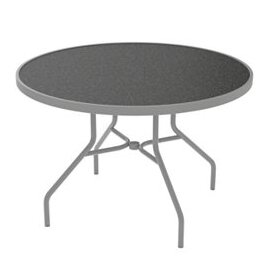 Raduno Round Aluminum Dining Table by Tropitone
