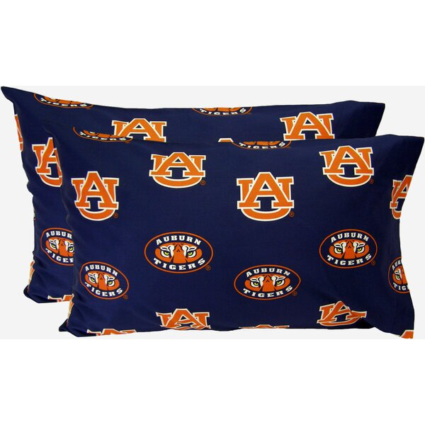 Collegiate NCAA Auburn Pillowcase (Set of 2) by College Covers