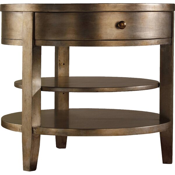 Sanctuary End Table with Storage by Hooker Furniture