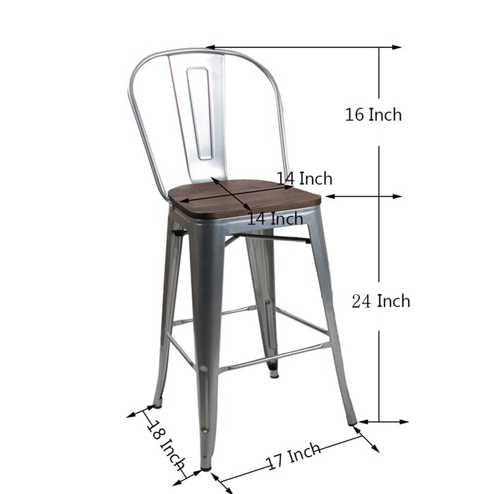 Stupendous Rosenberry Bar Counter Stool Uwap Interior Chair Design Uwaporg