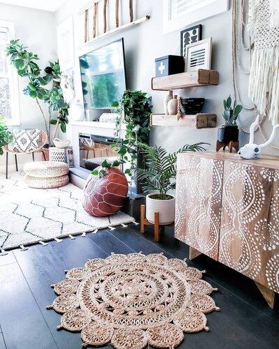 Bohemian Living Room Design Photo By Wayfair Canada