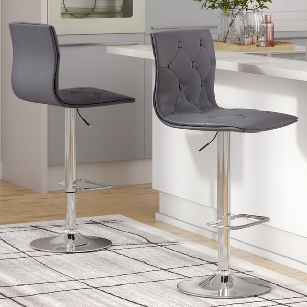 Niven Adjustable Height Swivel Bar Stool (Set of 2) by Orren Ellis
