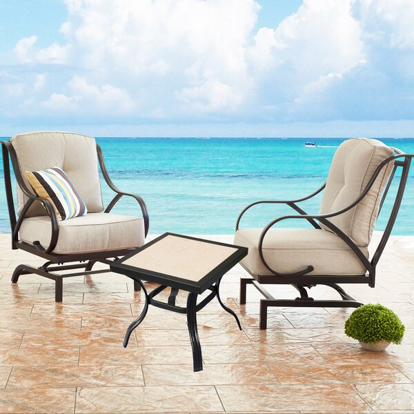 Shamas Rocking Motion 2 Piece Seating Group with Cushions by Winston Porter