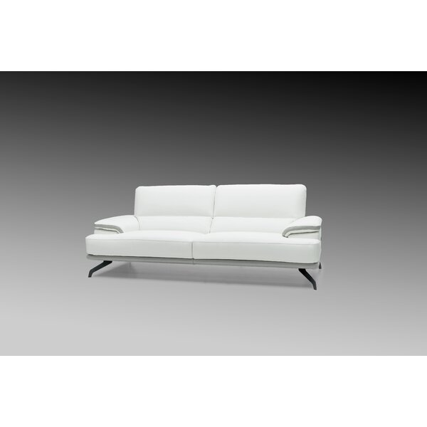 Chesterle Leather Loveseat by Orren Ellis
