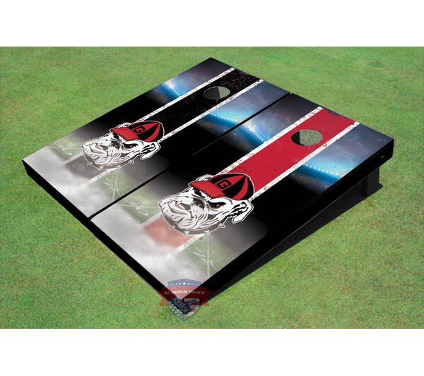 NCAA Hairy Dawg Field Long Strip Cornhole Board (Set of 2) by All American Tailgate
