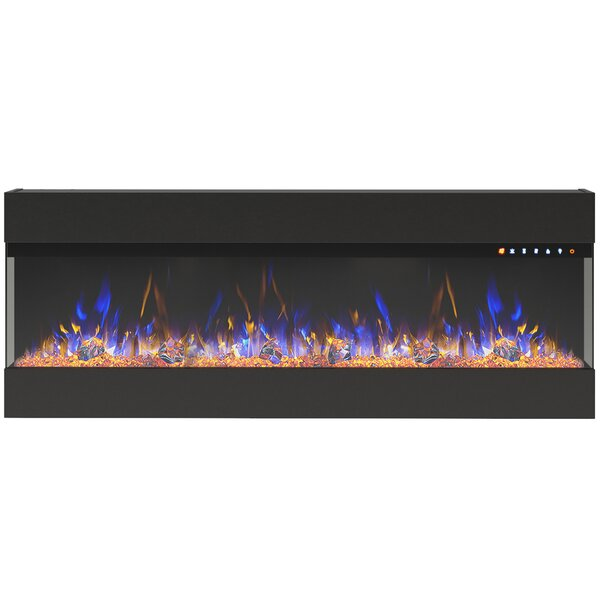 Holubice Recessed Wall Mounted Electric Fireplace By Ebern Designs