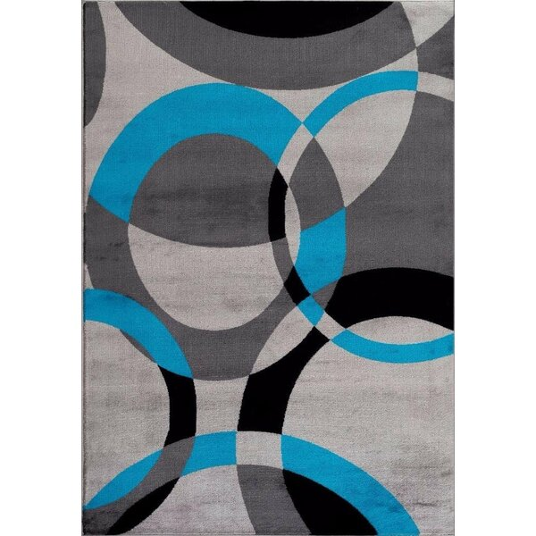 Bennet Abstract Turquoise Area Rug by Latitude Run